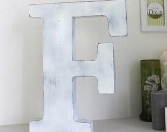 lettres poser en bois g antes style industriel par mylittledecor. Black Bedroom Furniture Sets. Home Design Ideas
