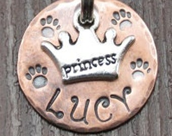 Dog tag, Dog ID tag, Dog name tag, Collar name tag, Dog tags for dogs, Pet tag, Pet ID tag, Personalized pet tag, Unique pet tag