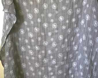 The Wishing Dandelion Gauze Swaddle Blanket