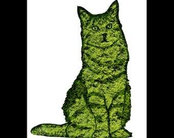Cat Topiary Print