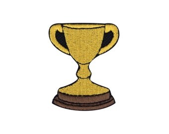 Trophy Emoji Embroidered Iron On Patch - FREE SHIPPING