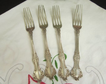 Rogers & Bros A1 Crest Dinner Forks Antique Circa 1906 Silverware Flatware Serving Dining Replacement - Sw063