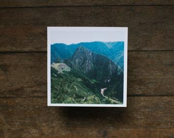"""Machu Picchu Print, 5""""x5"""""""