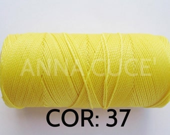 COR:  37 Choose from 10 - 20 m waxed thread LINHASITA thick, wire 1 mm for macramé, materials.