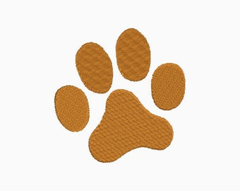 Embroidery design - tiger paw- INSTANT download machine embroidery
