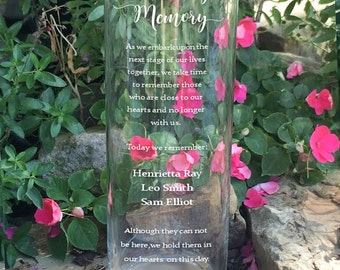 In Loving Memory Memorial Vase - In Loving Memory Vase -Floating Wedding Memorial Candle - Memorial Candle - Engraved Memorial Cylinder