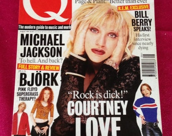 Vintage Q Magazine Courtney Love Hole Bjork - August 1995