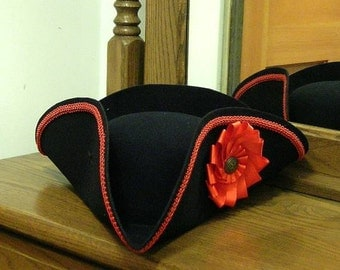 Field Officer's Tricorn - Cockade Hat - Colonial Tricorne - Pirate Hat