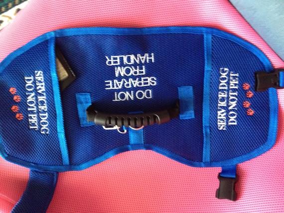 Service Dog Vest Handle 2 Pockets 3 Large By Sewservicedogs