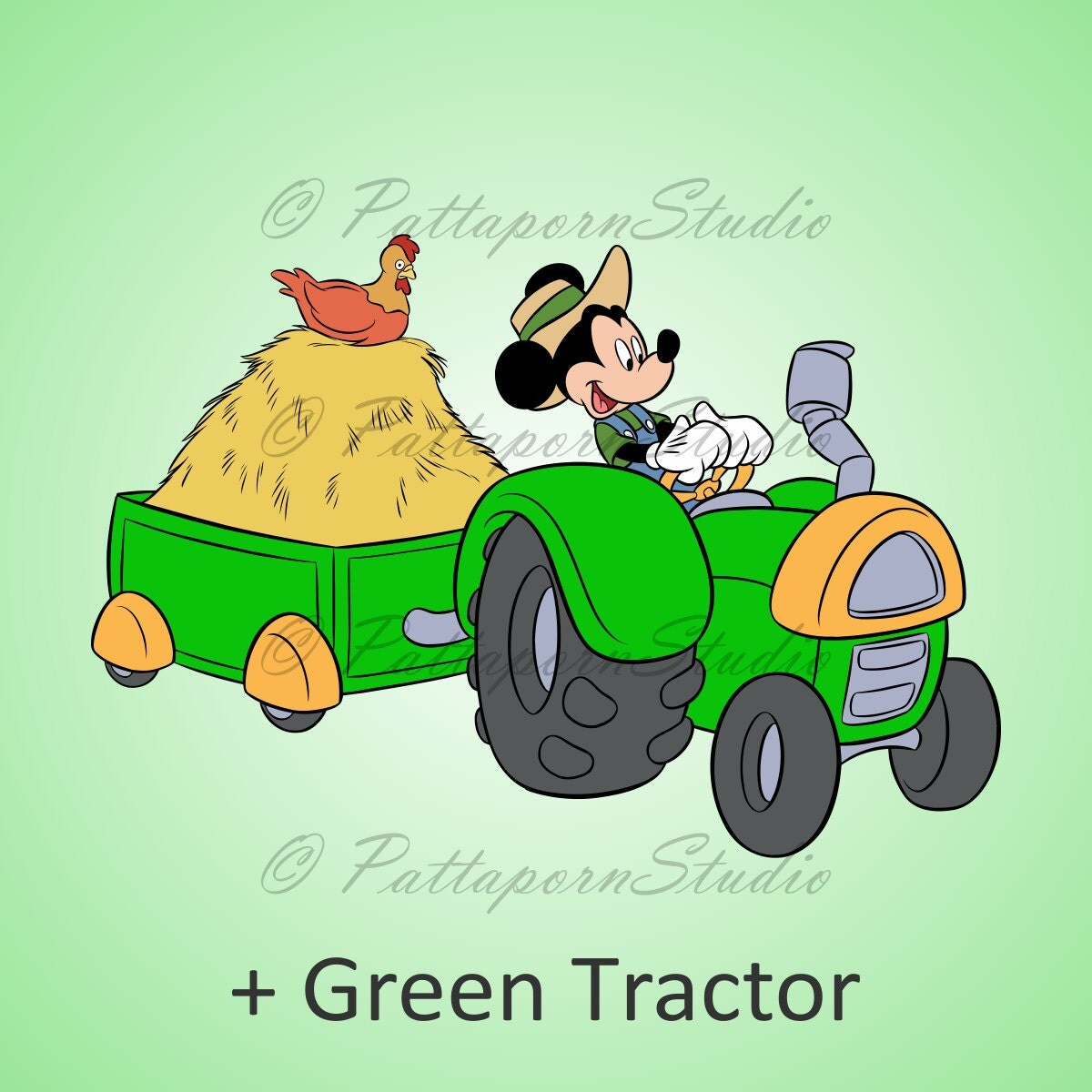 Mickey Mouse Cartoons John Deere Tractors : Buy get free digital clipart quot mickey mouse farm