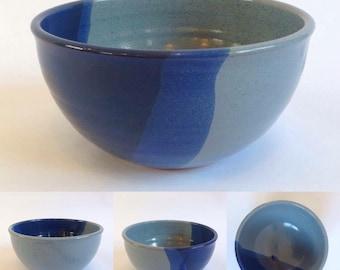 Ceramic Bowl / Blue / Handmade Pottery