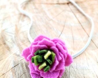 Pink Felt Flower Headband, Felt Flower Headbands, Felt Headband, Felt Baby Headbands, Baby Headbands, Newborn Photo Prop