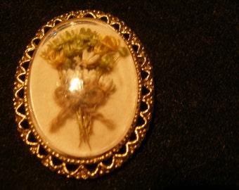 Dried Flower Brooch/Pendant(564)