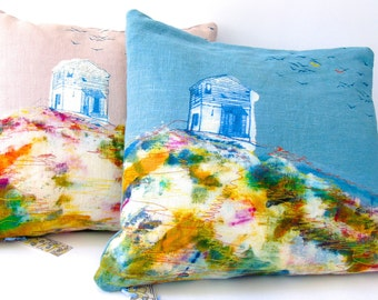 Beautiful Engeroy Print in Turquoise or Pink