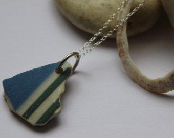 Cornishware Sea Pottery & Sterling Silver Pendant