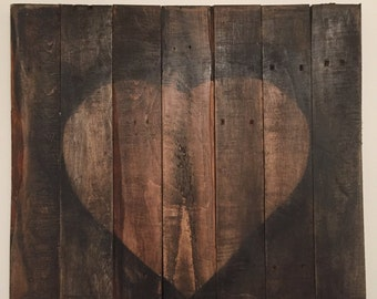 Rustic Wall Art with Heart
