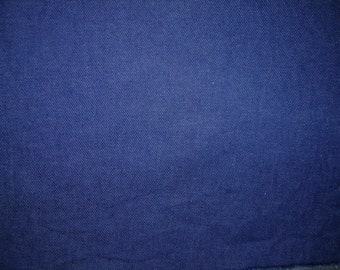 Dark Blue Denim Fabric, 5/8 Yard