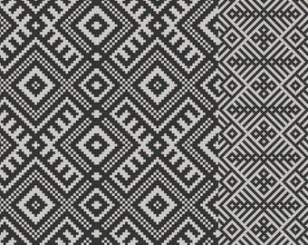FREE SHIPPING Kilim Pattern Decorative PVC Vinyl Mat Linoleum Rug   Dark  Gray  K