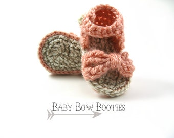 Baby Bow Sandals>>Booties>>Crochet>>TBH003