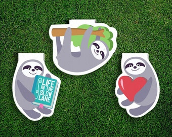Magnetic Bookmark | Sloth Magnet Cute Book Bookmarks Pack of 3, Magnetic, Cute, Quirky, Kawaii