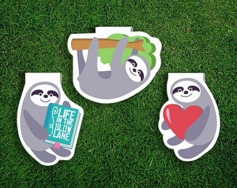 Magnetic Bookmark Set | Sloth Magnet Cute Book Bookmarks Pack of 3, Magnetic, Cute, Quirky, Kawaii