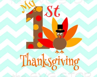 My 1st thanksgiving SVG and studio files for Cricut, Silhouette, Vinyl Cutters and Screen Printing
