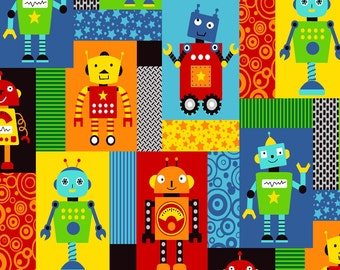 Robot Twill Fabric, Robot Cotton Fabric, Children's Fabric
