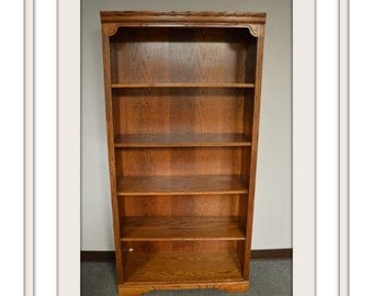 Oak Traditional Style Bookcase