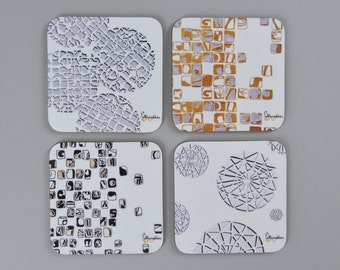 Set of 4 - Signature Collection Coasters