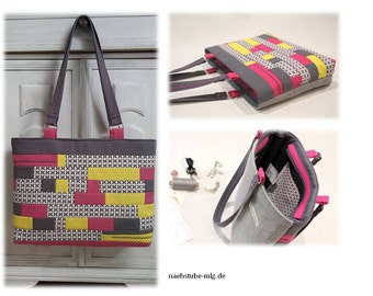 Colorful patchwork shoulder bag