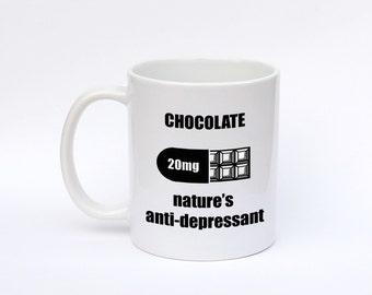 Chocolate Coffee mug, Funny coffee mug, chocolate