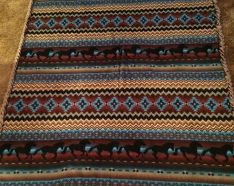 Southwestern type patterned twin size throw