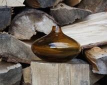 Orange Vase, Orange Glass Vase, Modern Glass, Salong Vase, Bubble Vase