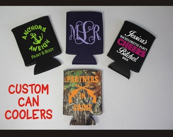 Custom Can Coolers/Beverage Holders...Just The Way You Want Them!!!  No Minimum Quantity!!