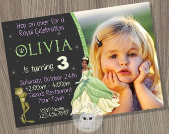 Princess Tiana Invitation, The Princess and the Frog Invitation, Tiana Birthday Invitation, Princess Invitation, Disney Princess Invitation
