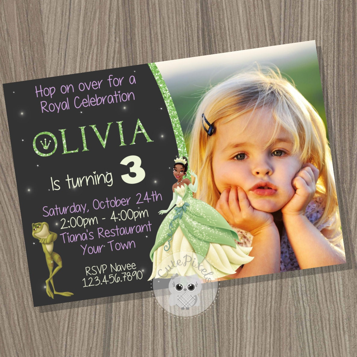 Princess tiana party – Princess Tiana Birthday Invitations