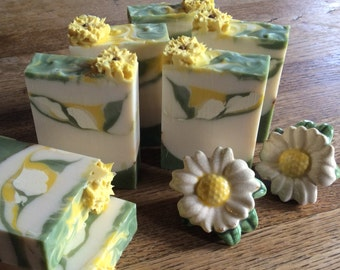 CILANTRO ORANGE BLOSSOM ...Moisturizing bath soap, With loads of cocoa butter, shea butter, avocado oil, and soothing ground comfrey