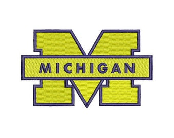 Michigan Wolverines Logo Embroidery Design, 9 Size