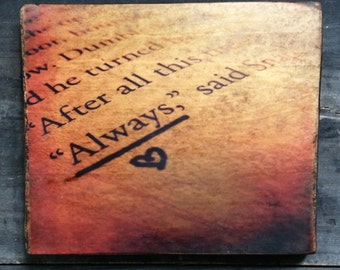 Always Harry Potter Distressed Sign