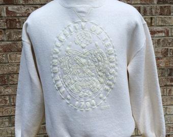 Vintage University of Tennessee White Seal Large Crewneck Sweatshirt