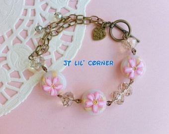 Sakura flower - vintage bracelet