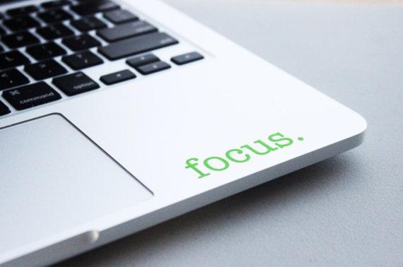 focus motivational laptop macbook decal college student. Black Bedroom Furniture Sets. Home Design Ideas