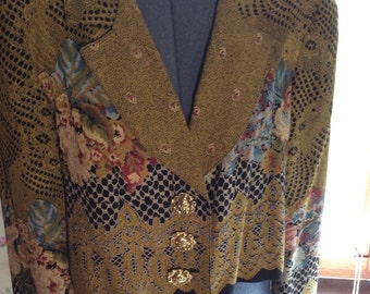 Vintage/Flowered/Unique Jacket.