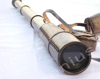 "Huge nautical telescope 32"", maritime spyglass, Christmas Day gift, marine gift, sailors gift, boating, adventure gift"