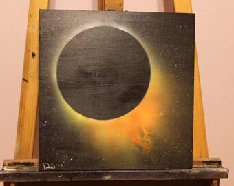 """14""""x15"""" Orange Eclipse 2015"""