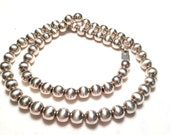 Vintage large bead mexico 925 sterling silver necklace