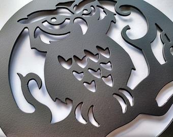 Owl in a Tree Trivet - Owl kitchen décor - Owl Wedding Gift – Decorative Rusitc Cottage Decor - Hot plate - Owl lover gift - Bird trivet