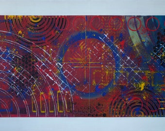 Abstract modern contemporary painting - Mombay - 50cm x 100cm