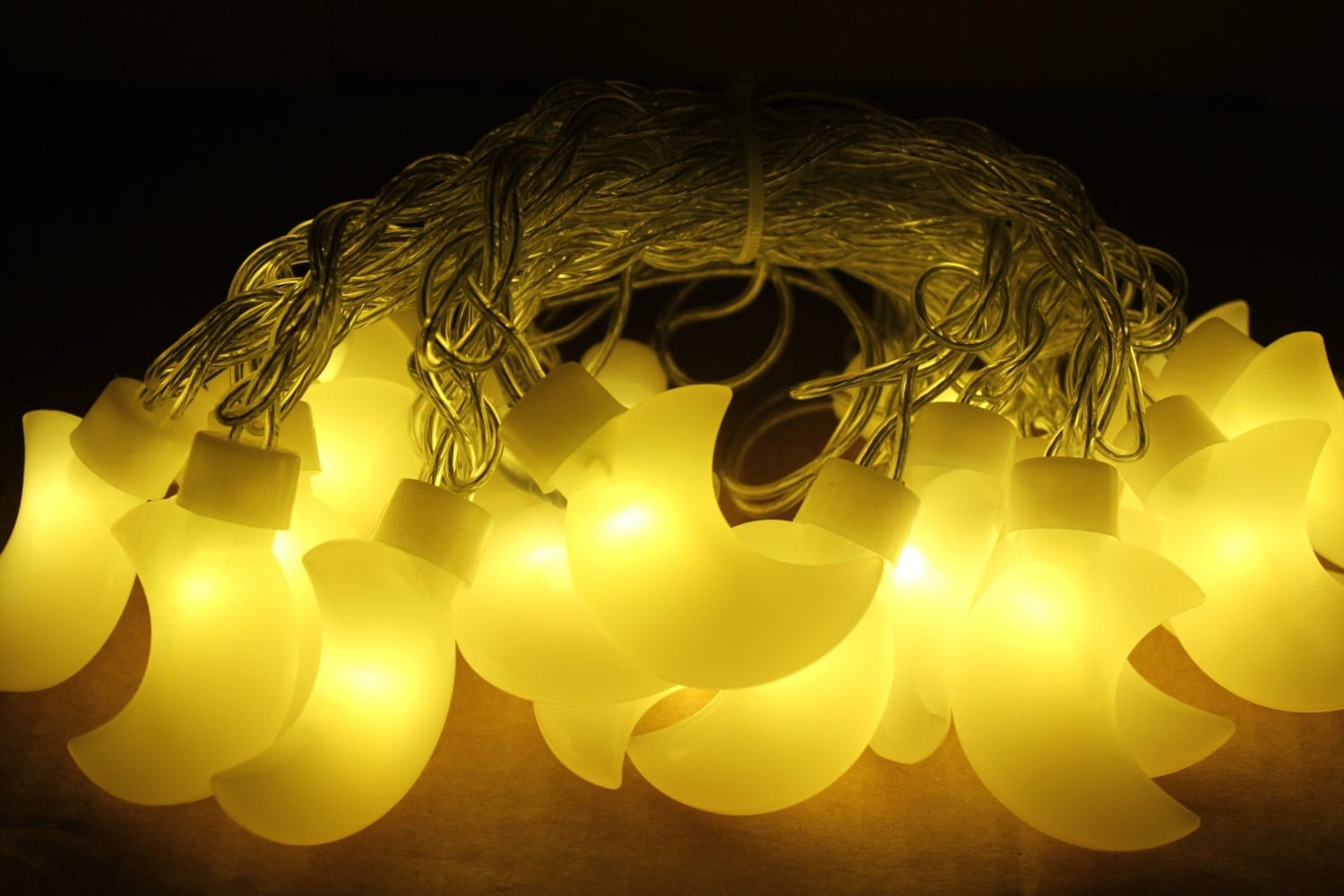 String Lights Moon : Crescent Moon Nursery LED String lights Kid Room decor Patio