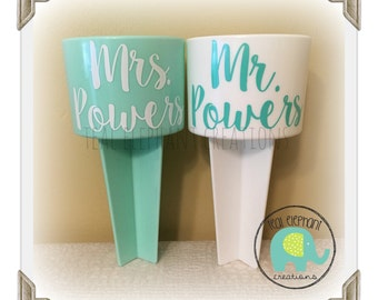beach drink spikers for the newlyweds or the entire bridal party!  bridal party gifts, newlywed gifts, beach weddings, honeymoon gifts!